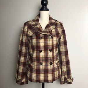 CHARLOTTE RUSSE Plaid Coat in Large